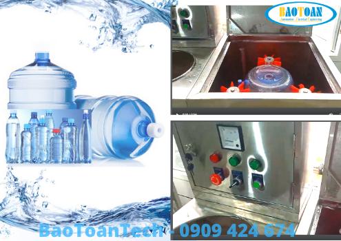 Máy rửa bình tự động - 1 phần không thể thiếu trong lĩnh vực sản xuất nước tinh khiết đóng chai