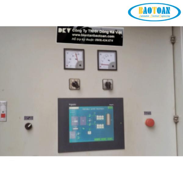 Tủ điện PLC bơm nước xử lí nước thải